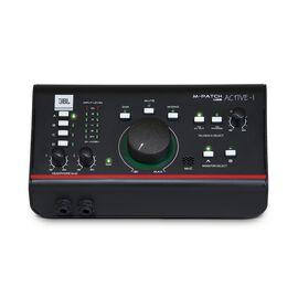JBL M-Patch Active-1 - Black - Precision Monitor Control Plus Studio Talkback and USB Audio I/O - Hero