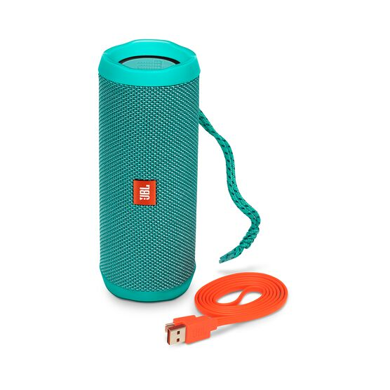 JBL Flip 4 - Teal - A full-featured waterproof portable Bluetooth speaker with surprisingly powerful sound. - Detailshot 1