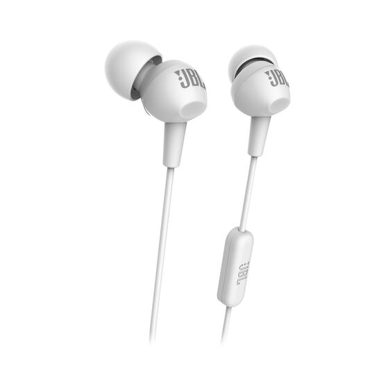 C150SI - White - JBL C150SI In Ear Headphones - Hero