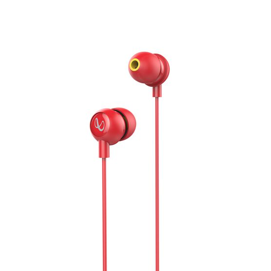 INFINITY ZIP 20 - Red - In-Ear Wired Headphones - Hero