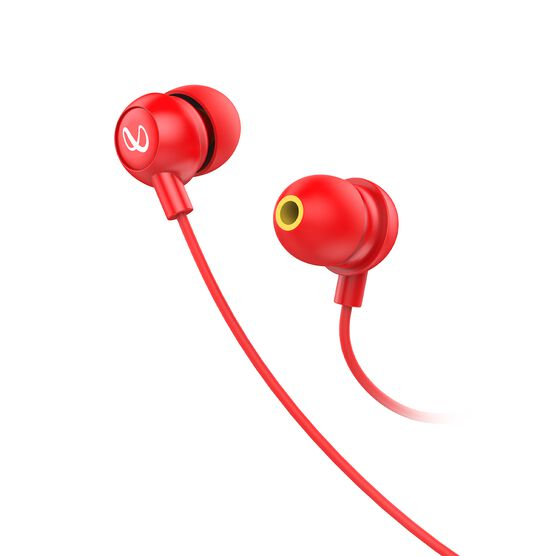 INFINITY ZIP 20 - Red - In-Ear Wired Headphones - Front