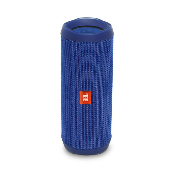 JBL Flip 4 - Blue - A full-featured waterproof portable Bluetooth speaker with surprisingly powerful sound. - Hero