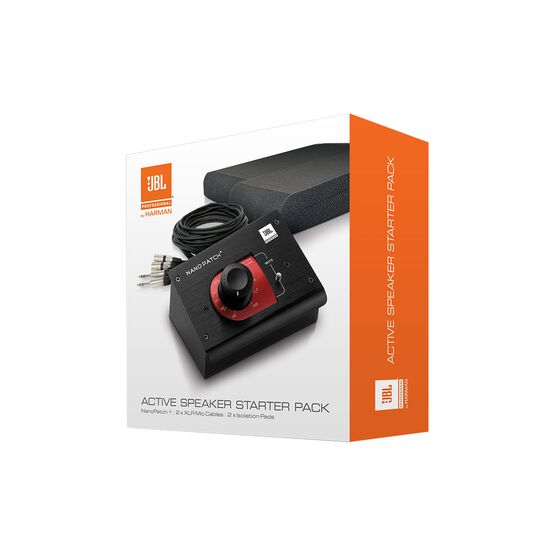 JBL Active Speaker Starter Set - Black - Studio Monitor Enhancement Pack - Hero