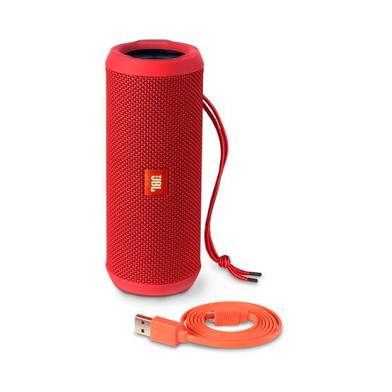 JBL Flip 3 - Red - Splashproof portable Bluetooth speaker with powerful sound and speakerphone technology - Detailshot 4