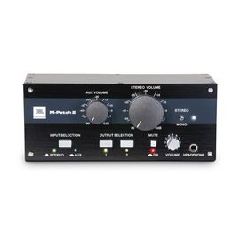 JBL M-Patch 2 - Black - Passive Stereo Controller and Switch Box - Hero