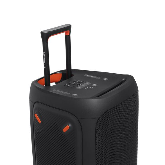 JBL Partybox 310 - Black - Portable party speaker with dazzling lights and powerful JBL Pro Sound - Detailshot 4