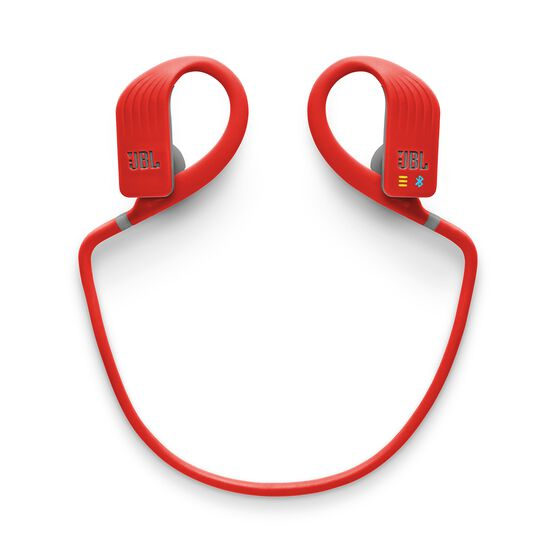 JBL Endurance DIVE - Red - Waterproof Wireless In-Ear Sport Headphones with MP3 Player - Detailshot 3