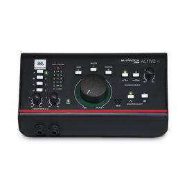 JBL M-Patch Active-1 - Black - Precision Monitor Control Plus Studio Talkback and USB Audio I/O - Hero