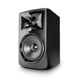 "JBL 308P MkII - Black - Powered 8"" (20.32 cm) Two-Way Studio Monitor - Hero"