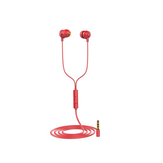 INFINITY ZIP 20 - Red - In-Ear Wired Headphones - Left
