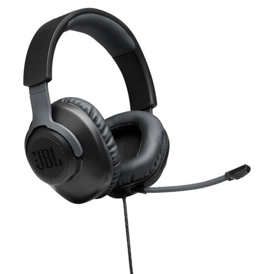 JBL Free WFH - Black - Wired over-ear headset with detachable mic - Hero