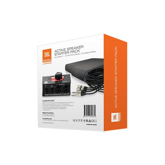 JBL Active Speaker Starter Set - Black - Studio Monitor Enhancement Pack - Back