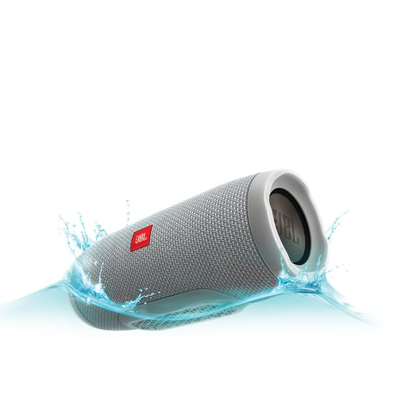 JBL Charge 3 - Grey - Full-featured waterproof portable speaker with high-capacity battery to charge your devices - Hero