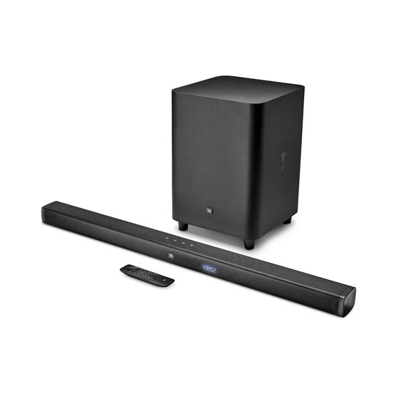 JBL Bar 3.1 - Black - 3.1-Channel 4K Ultra HD Soundbar with Wireless Subwoofer - Hero