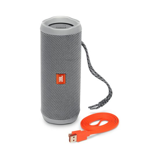 JBL Flip 4 - Grey - A full-featured waterproof portable Bluetooth speaker with surprisingly powerful sound. - Detailshot 1