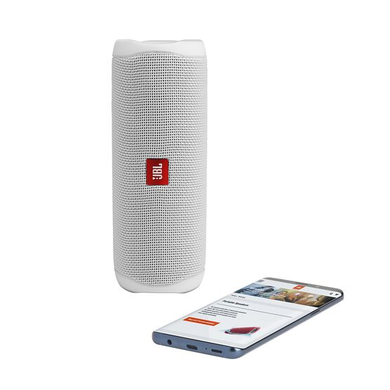 JBL FLIP 5 - White - Portable Waterproof Speaker - Detailshot 2