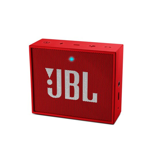 JBL GO - Red - Full-featured, great-sounding, great-value portable speaker - Hero