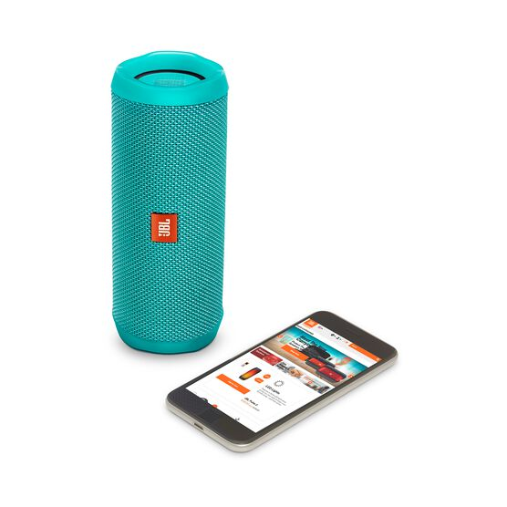 JBL Flip 4 - Teal - A full-featured waterproof portable Bluetooth speaker with surprisingly powerful sound. - Detailshot 2