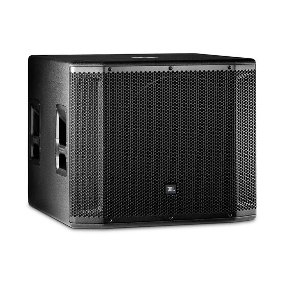 "JBL SRX818SP - Black - 18"" Self-Powered Subwoofer System - Hero"