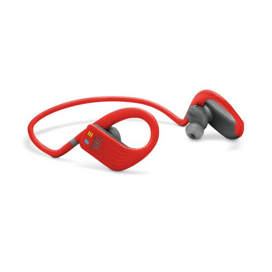 JBL Endurance DIVE - Red - Waterproof Wireless In-Ear Sport Headphones with MP3 Player - Detailshot 4