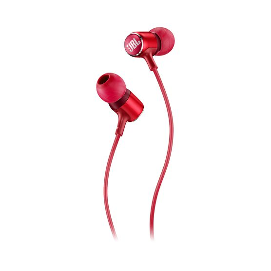 JBL LIVE 100 - Red - In-ear headphones - Detailshot 1