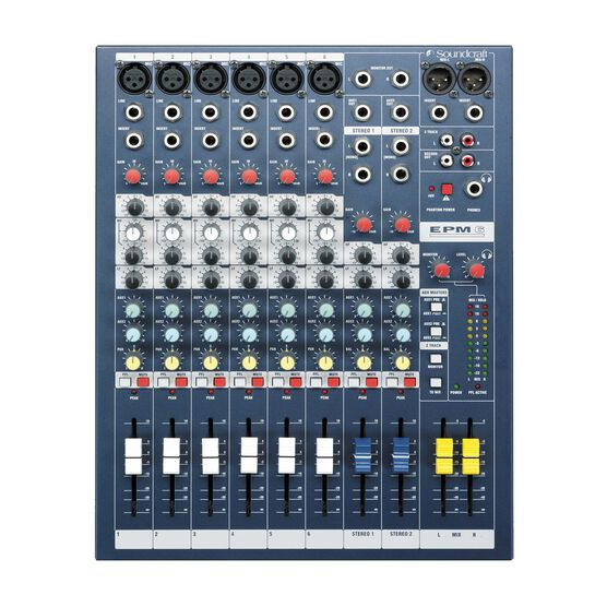 EPM6 - Dark Blue - A multipurpose mixer that carries the hallmarks of Soundcraft's professional heritage. - Detailshot 2