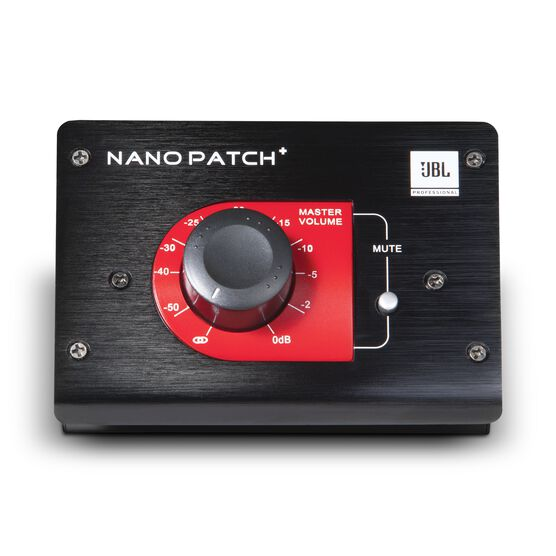 JBL Nano Patch+ - Black - Compact 2 Channel Passive Volume Controller - Hero