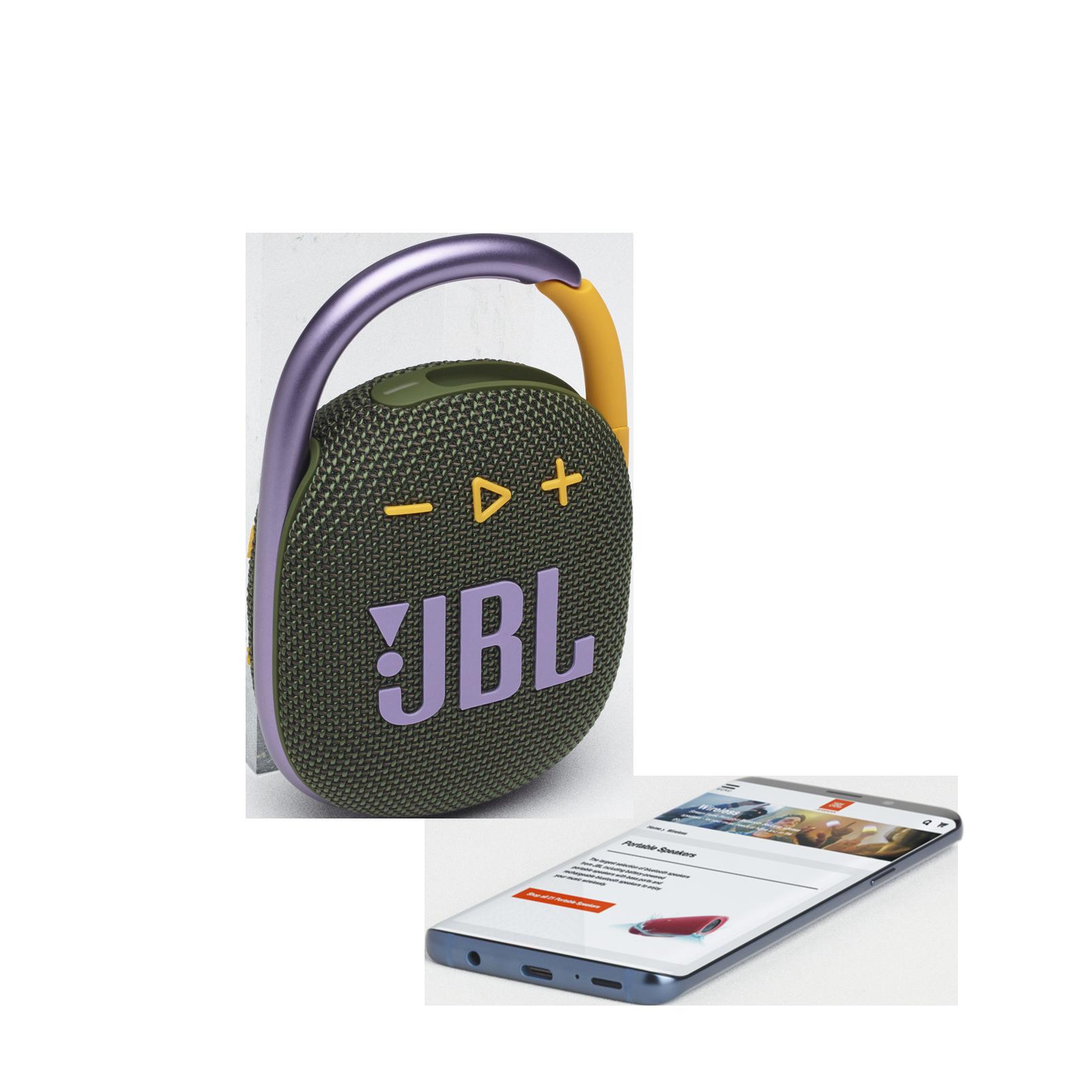 JBL CLIP 4 - Green - Ultra-portable Waterproof Speaker - Detailshot 1