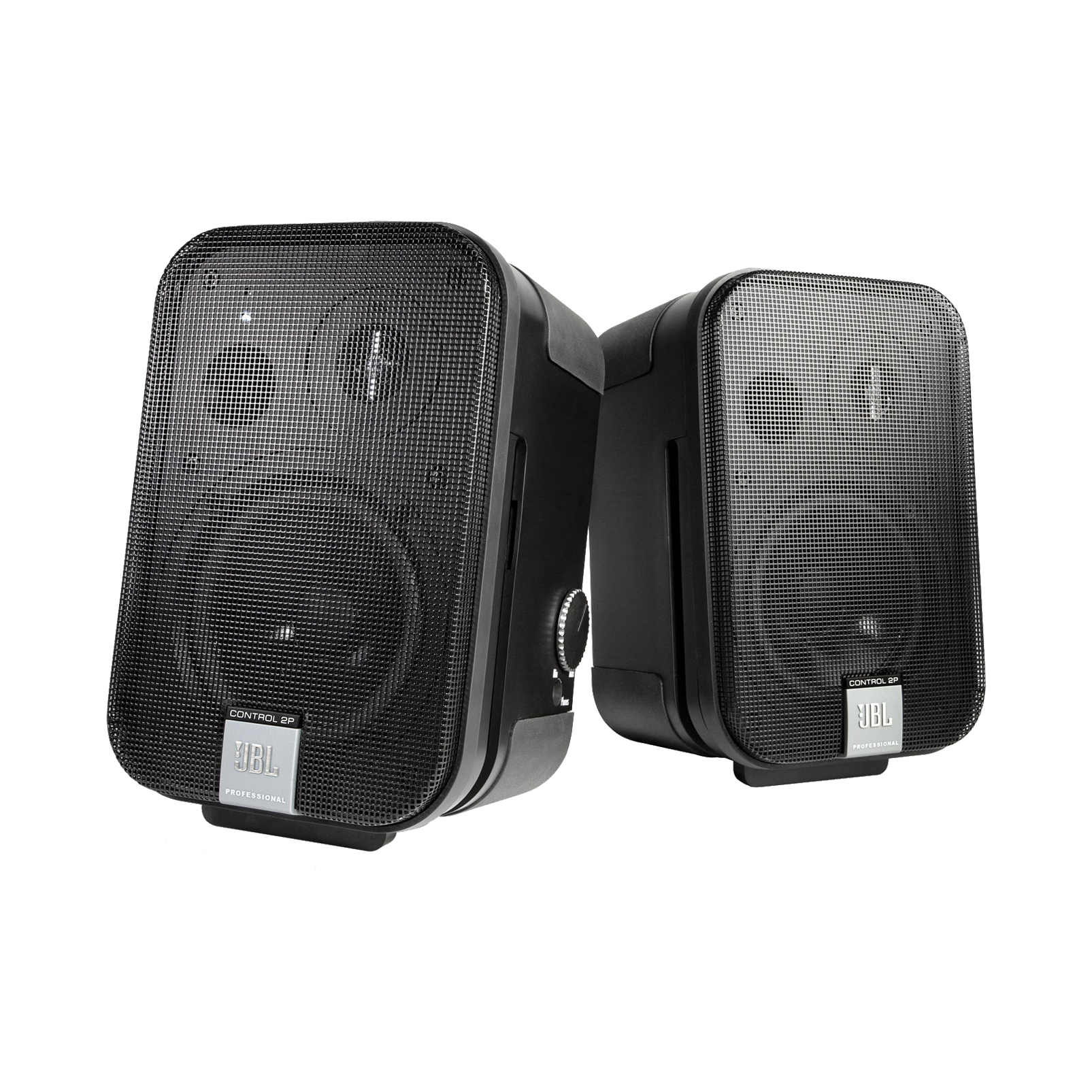 JBL Control 2P (Stereo Pair) - Black - Compact Powered Reference Monitor System - Hero