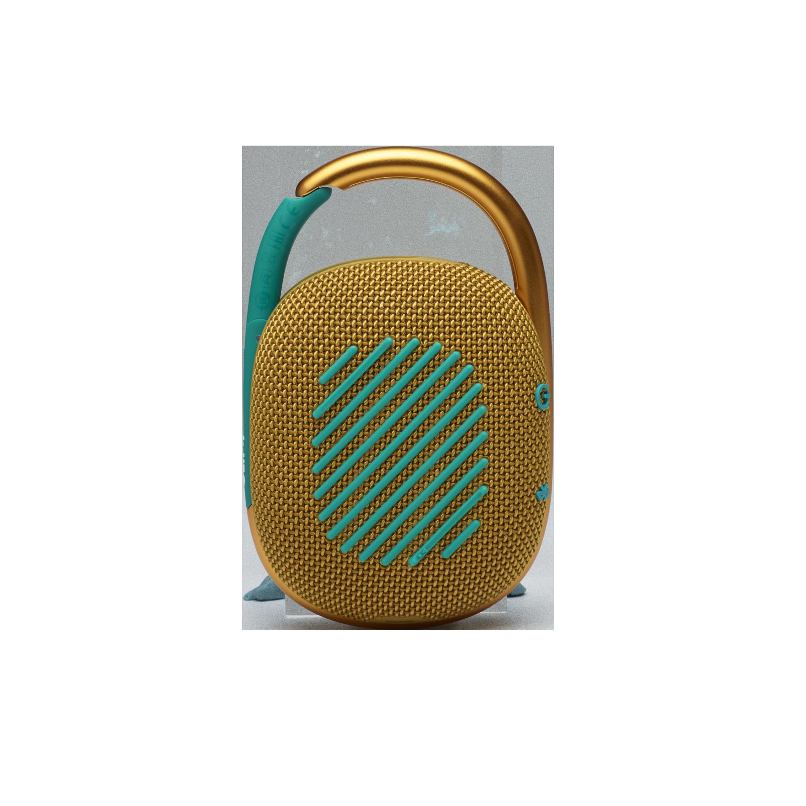JBL CLIP 4 - Yellow - Ultra-portable Waterproof Speaker - Back