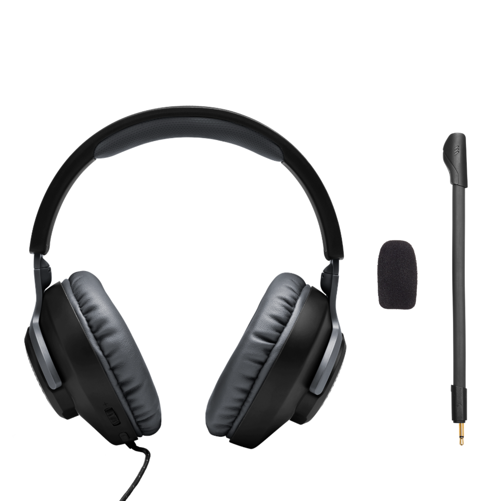JBL Free WFH - Black - Wired over-ear headset with detachable mic - Detailshot 4