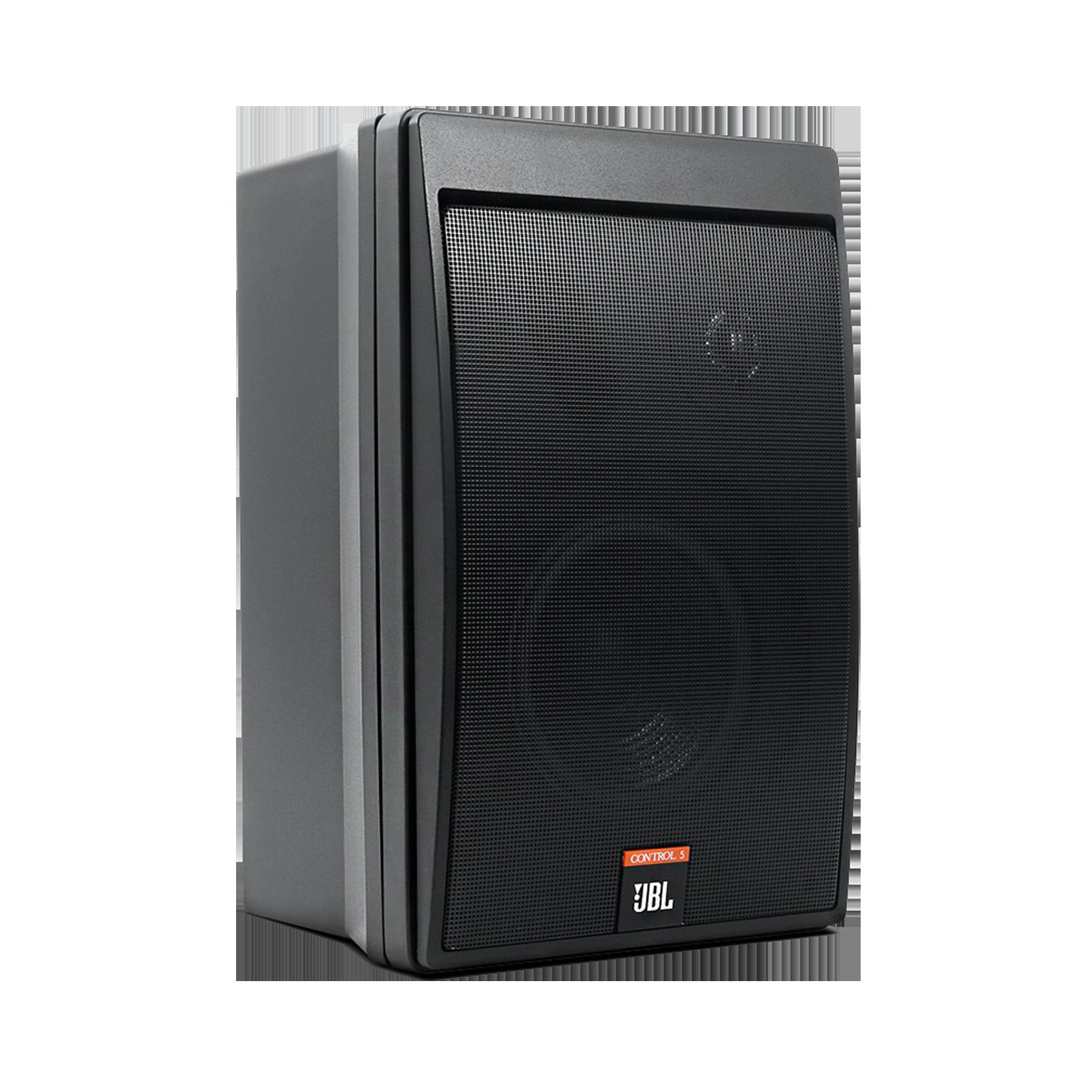 JBL Control 5 - Black - Compact Control Monitor Loudspeaker System - Hero