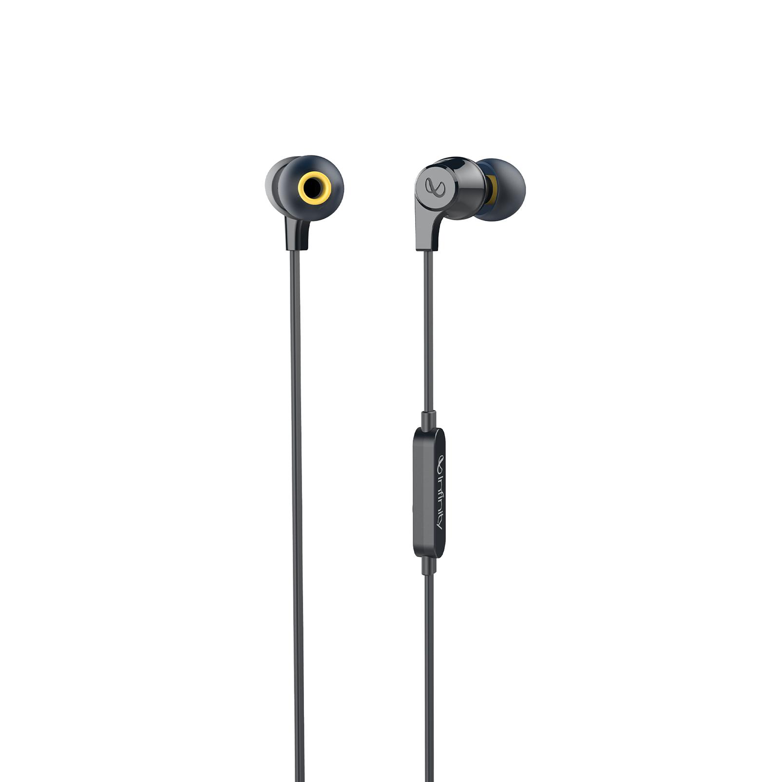 INFINITY ZIP 100 - Black - In-Ear Wired Headphones - Hero