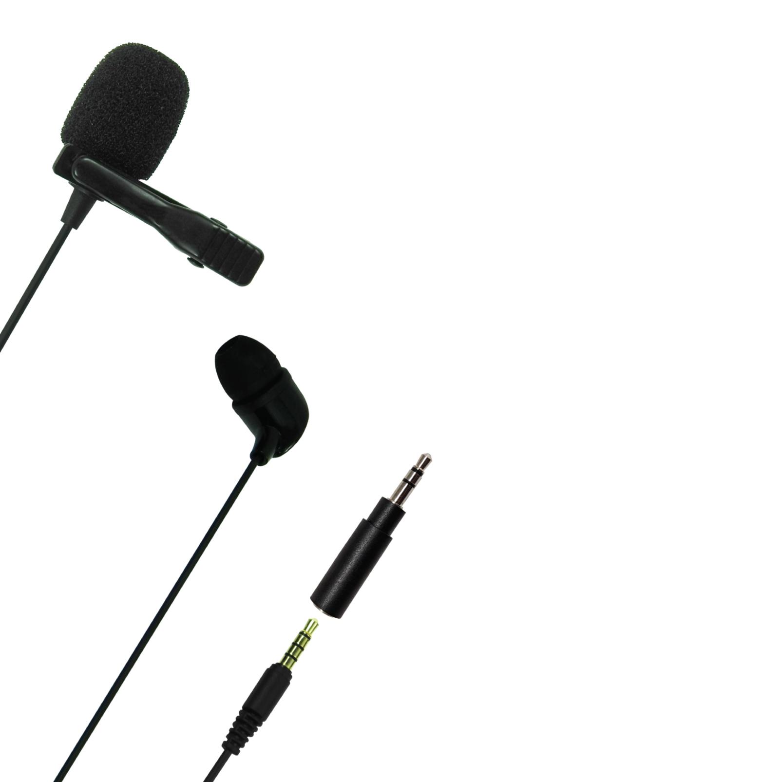 JBLCSLM20 - Black - Lavalier Microphone with Earphone - Detailshot 1