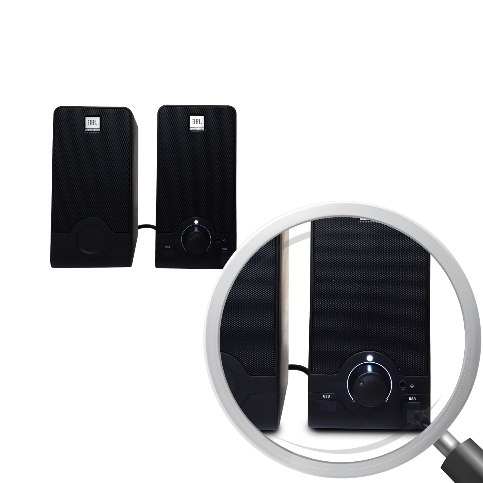 WFH100 - Black - USB powered speakers and Mini USB Microphone Bundle - Detailshot 2