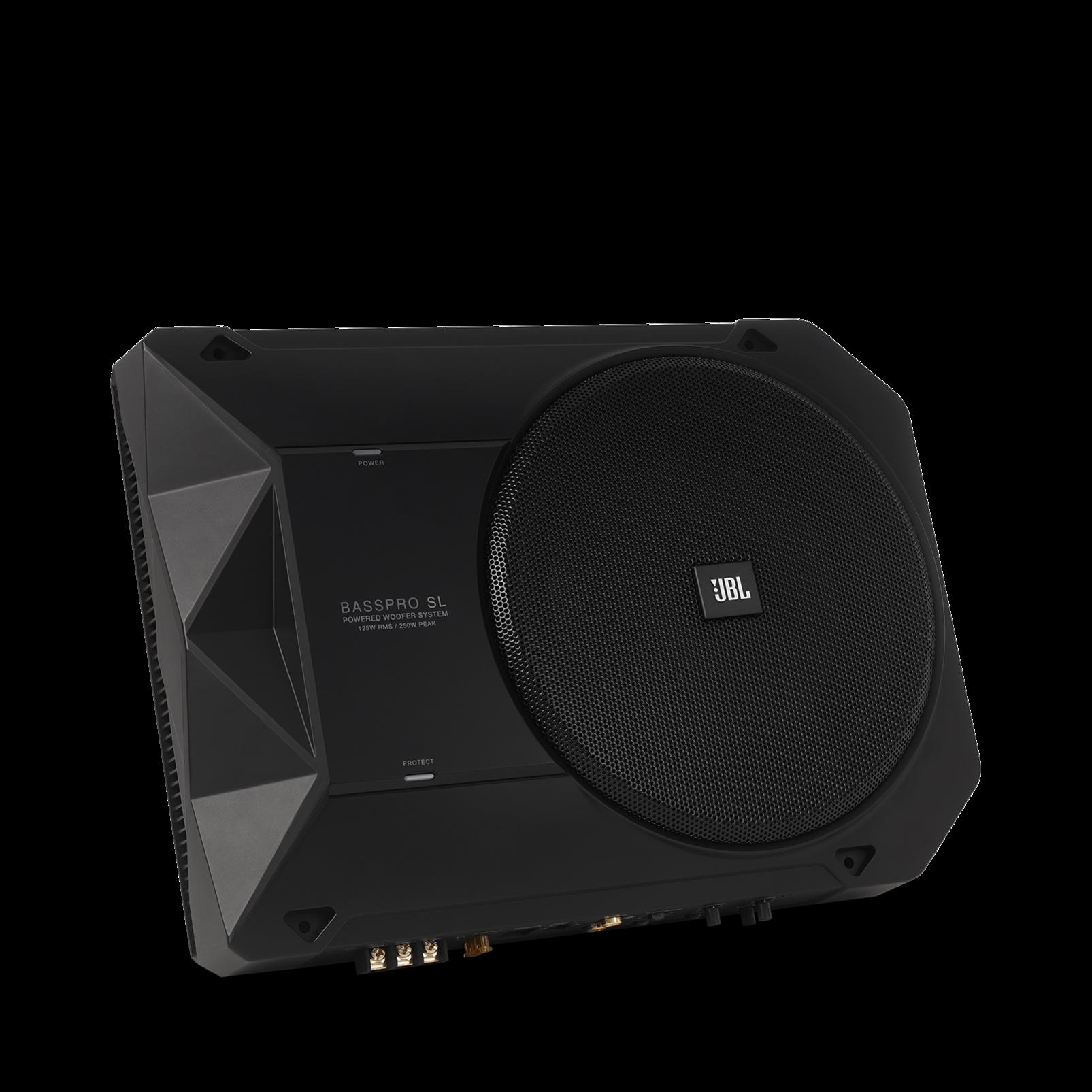 "BassPro SL - Black - Powered, 8"" (200mm) car audio under seat woofer system - Detailshot 5"