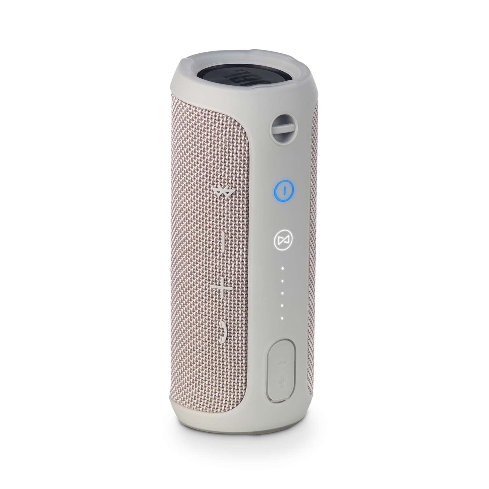 JBL Flip 3 - Grey - Splashproof portable Bluetooth speaker with powerful sound and speakerphone technology - Back