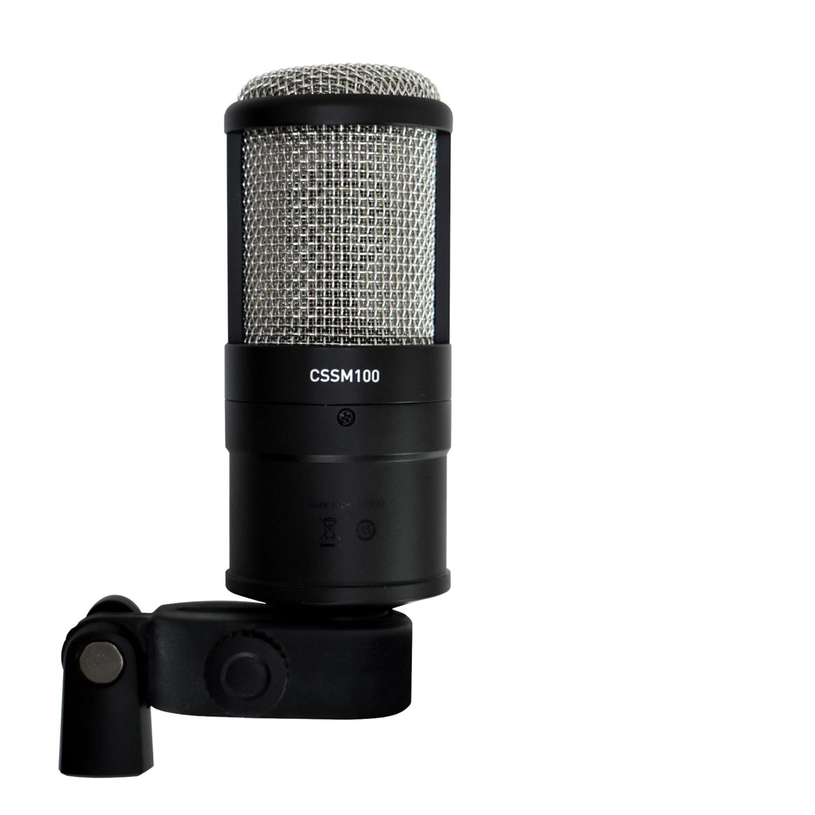 CSSM100 - Black - Studio Condenser Microphone - Detailshot 3