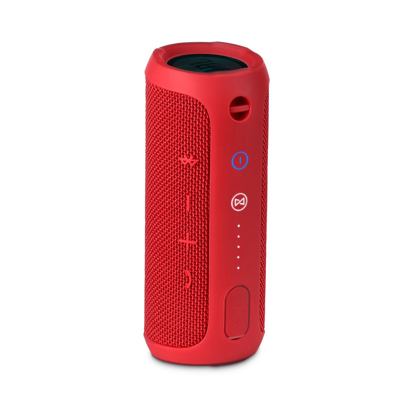 JBL Flip 3 - Red - Splashproof portable Bluetooth speaker with powerful sound and speakerphone technology - Back