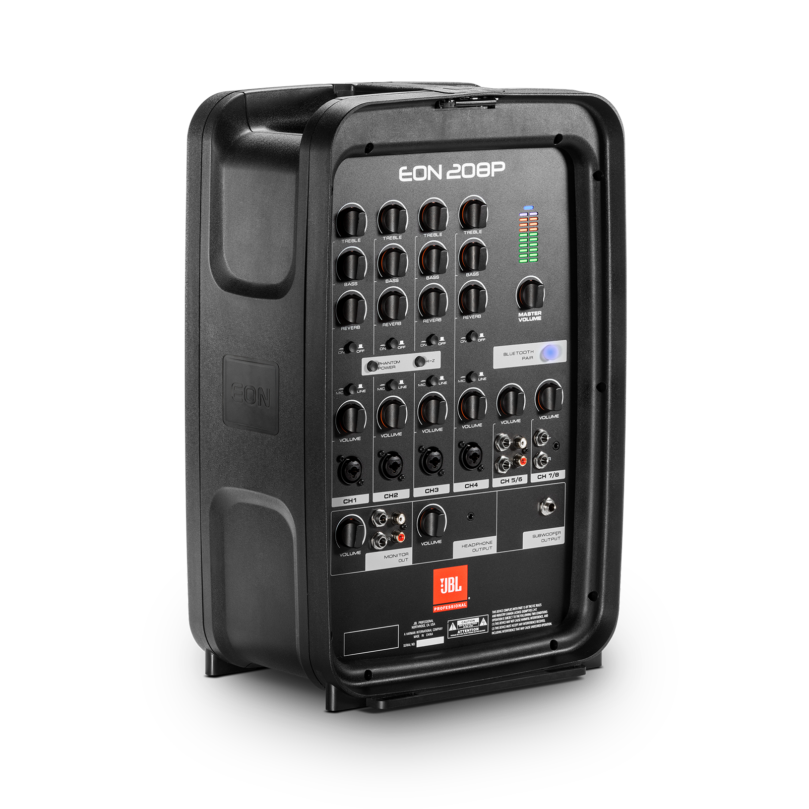 "JBL EON208P - Black - Portable 8"" 2-Way PA with Powered 8-Channel Mixer and Bluetooth® - Detailshot 3"