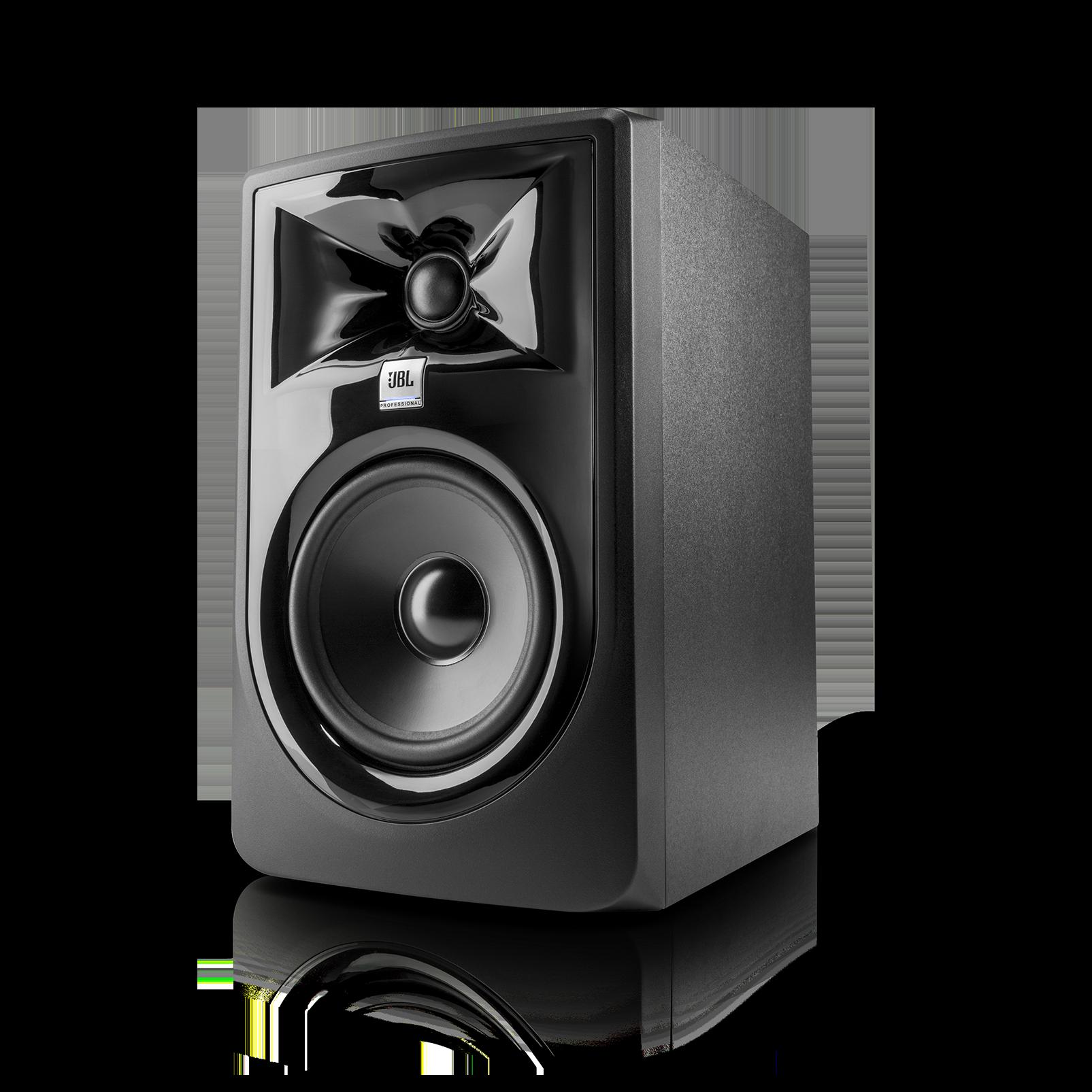 "JBL 305P MkII - Black - Powered 5"" (10.16 cm) Two-Way Studio Monitor - Hero"