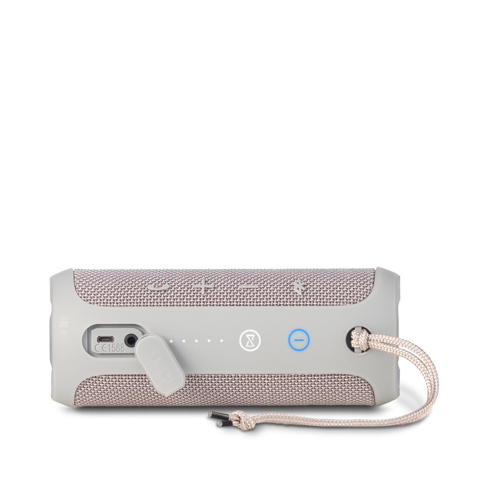 JBL Flip 3 - Grey - Splashproof portable Bluetooth speaker with powerful sound and speakerphone technology - Detailshot 3