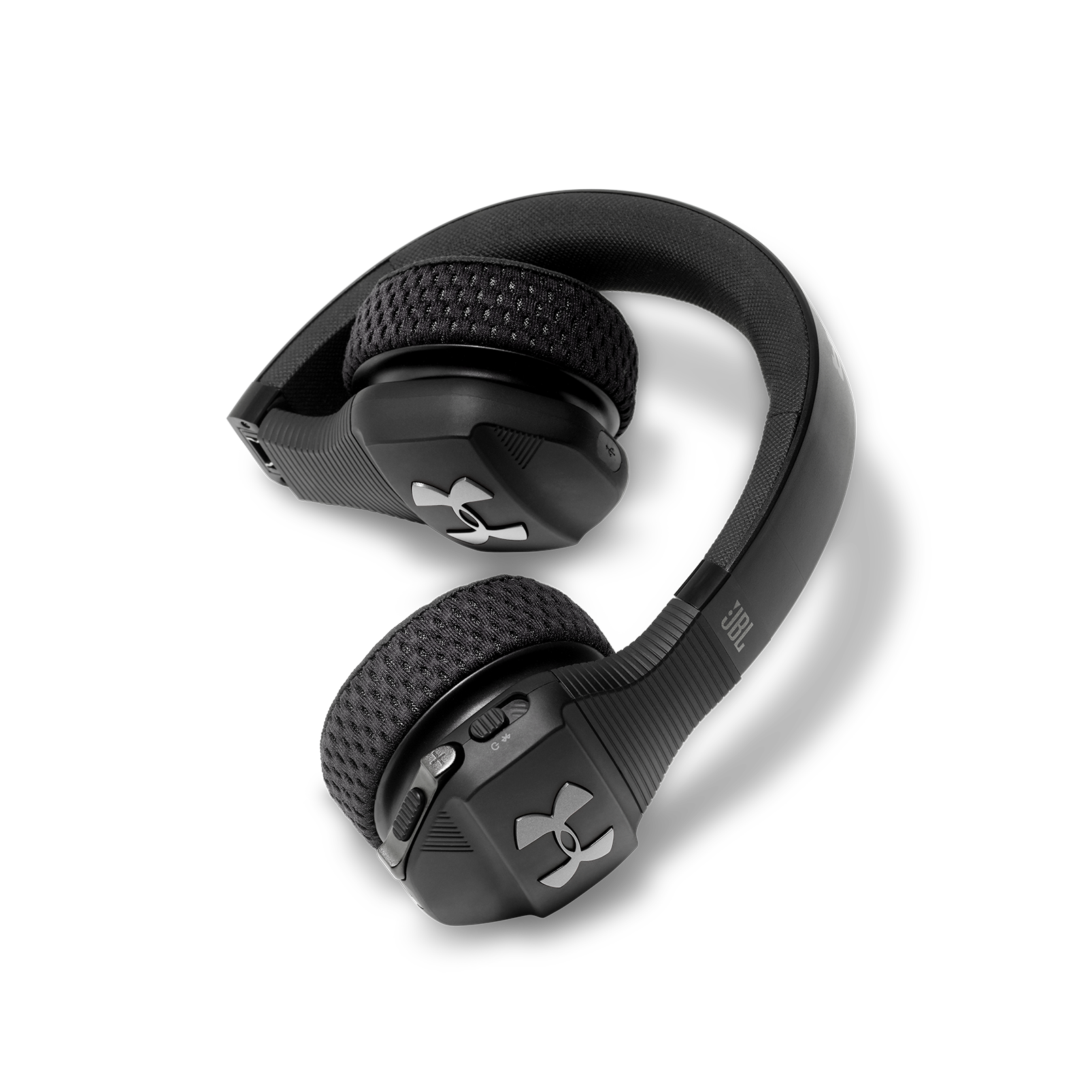 UA Sport Wireless Train – Engineered by JBL - Black - Wireless on-ear headphone built for the gym - Detailshot 2
