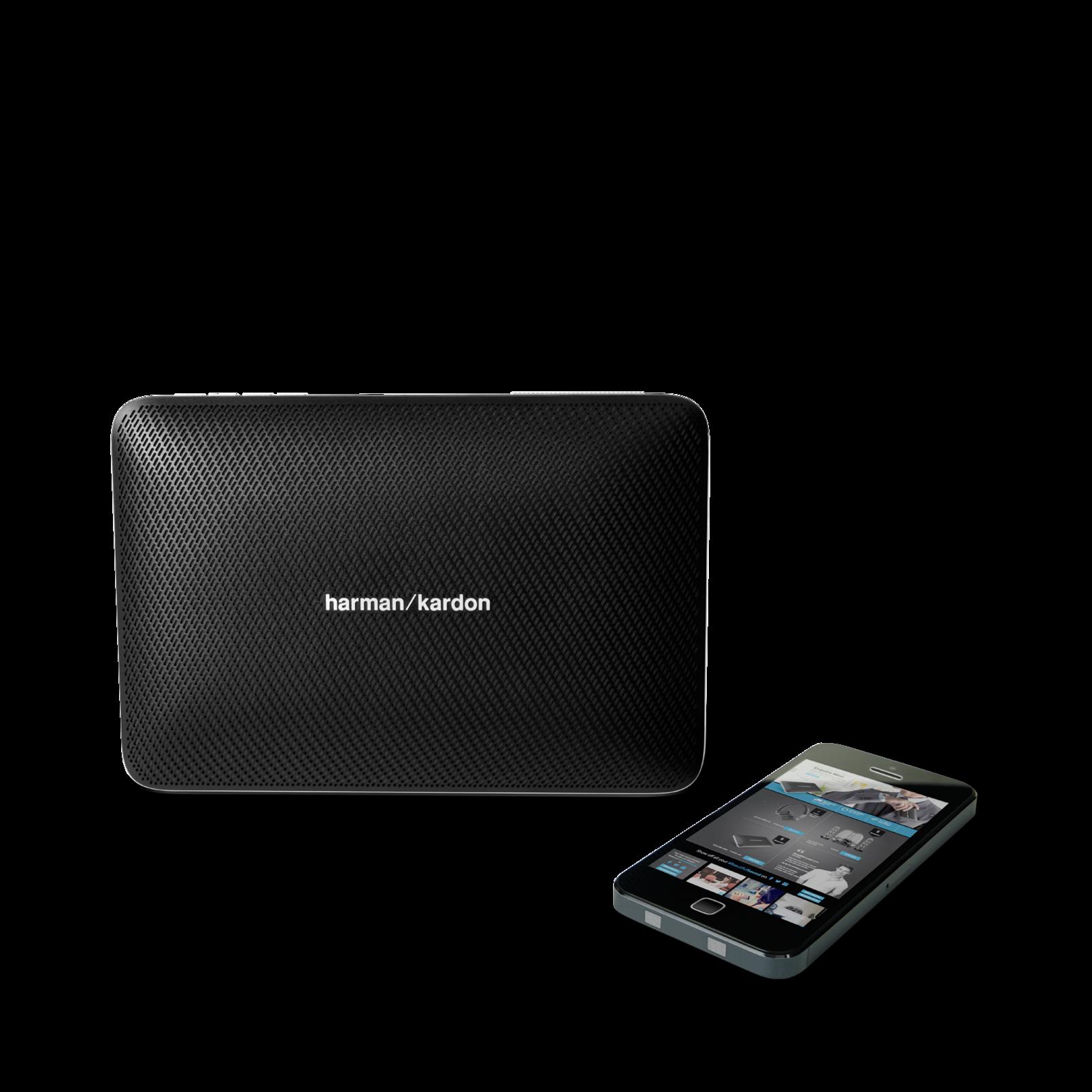 Esquire 2 - Black - Premium portable Bluetooth speaker with quad microphone conferencing system - Detailshot 5