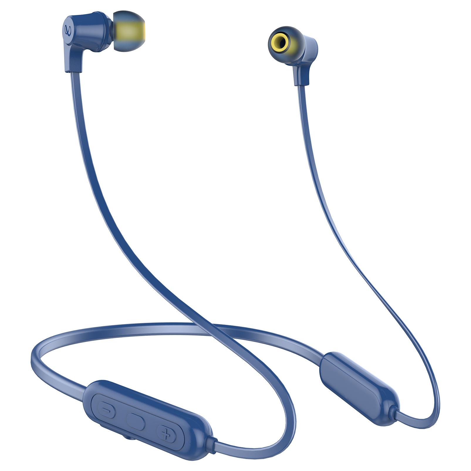 INFINITY GLIDE N100 - Blue - In-Ear Ultra Light Neckband - Front