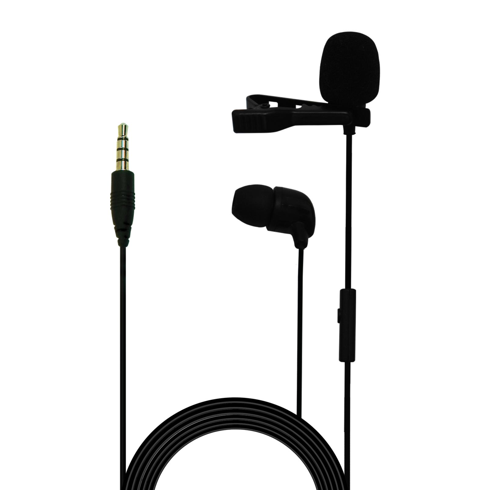 CSLM30 - Black - Clip-on Omnidirectional Lavalier Microphone - Hero