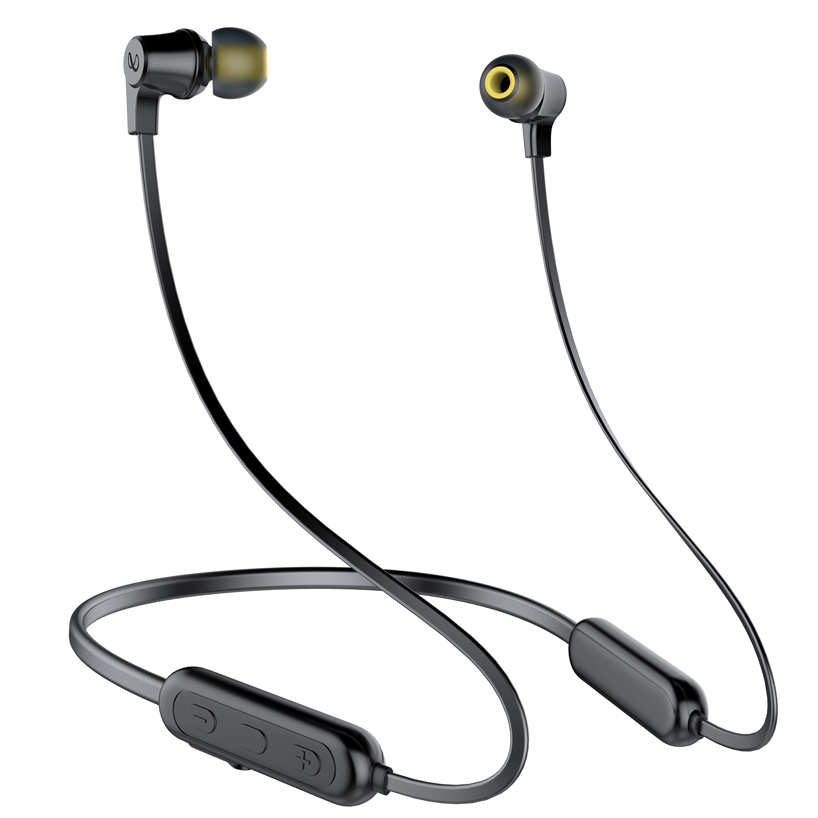 INFINITY GLIDE N100 - Black - In-Ear Ultra Light Neckband - Front