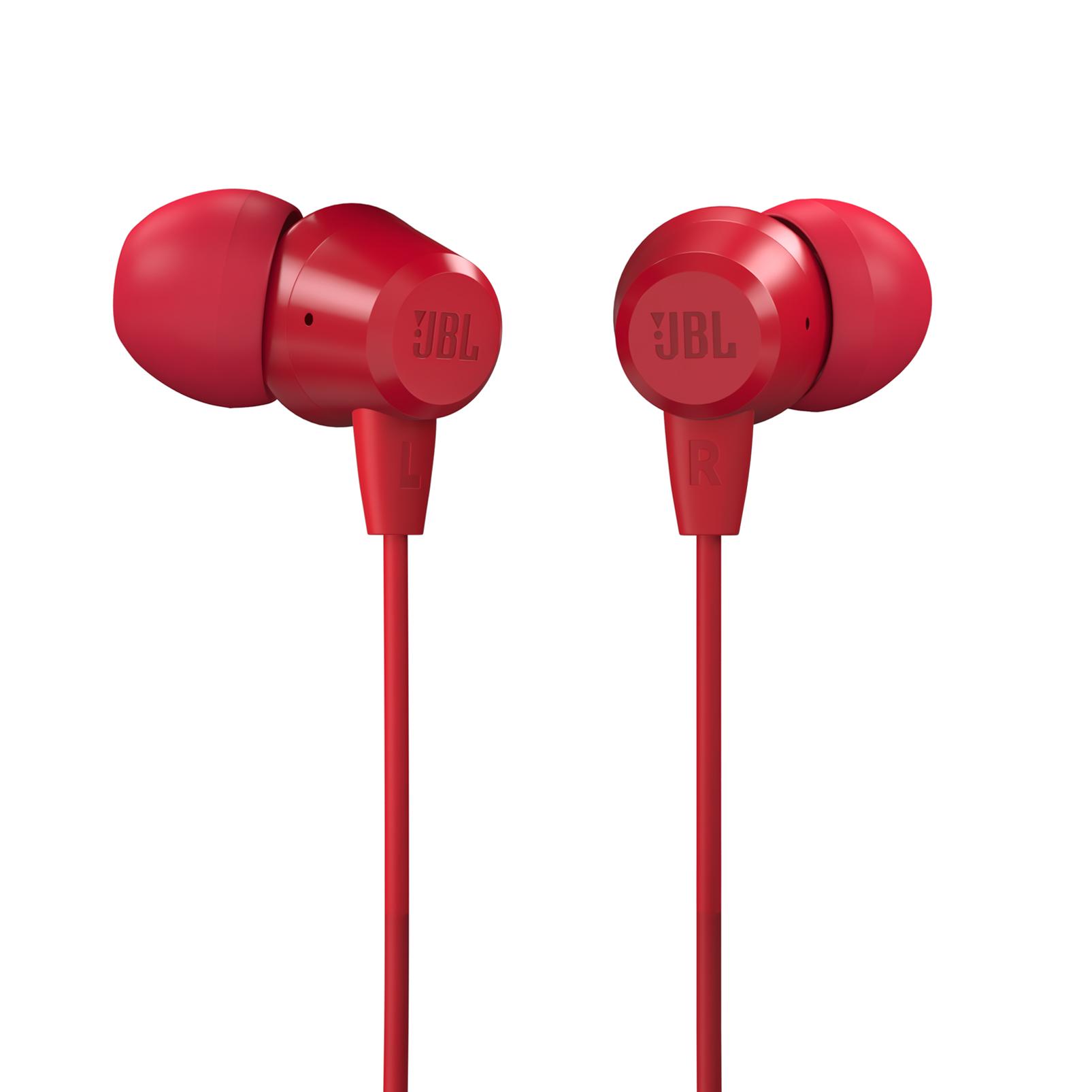 JBL T50HI - Red - In-Ear Headphones - Hero