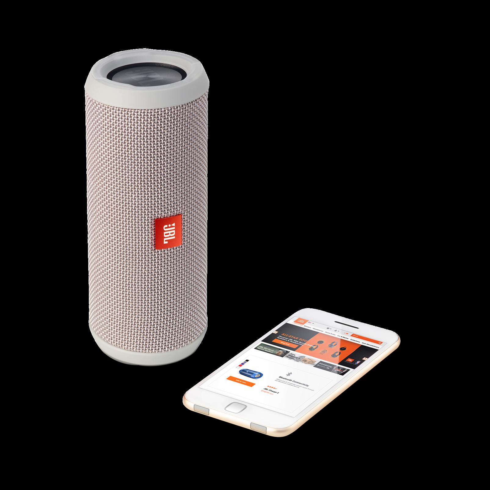 JBL Flip 3 - Grey - Splashproof portable Bluetooth speaker with powerful sound and speakerphone technology - Detailshot 1