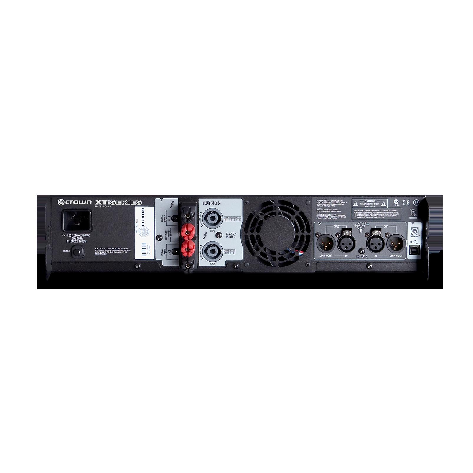 XTi 6002 - Grey - Two-channel, 2100W @ 4Ω power amplifier - Back